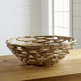 Crate & Barrel Driftwood Centerpiece Bowl
