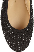 Giuseppe Zanotti Crystal-embellished suede ballet flats