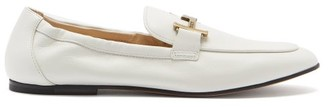 Tod's T-logo Leather Loafers - White