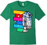 Star Wars R2-D2 Rainbow Roll Cartoon Graphic T-Shirt