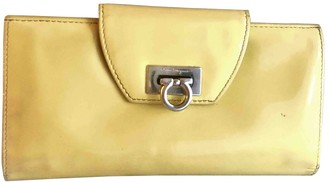 Salvatore Ferragamo Yellow Patent leather Wallets