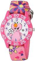 EWatchFactory Girl's 'Sesame Street' Quartz Plastic and Nylon Automatic Watch, Color:Pink (Model: W003204)