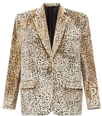 ATTICO Cheetah-jacquard Velvet Blazer - Animal