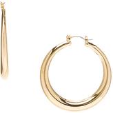Carole Goldtone Hoop Earrings