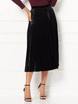 New York & Co. Eva Mendes Collection - Caitlyn Pleated Velvet Skirt
