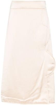 Jil Sander Structured-Detail Midi Skirt