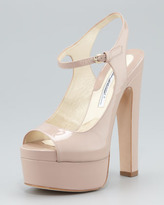 Brian Atwood Anais Patent Leather Sandal