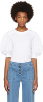 Chloé White Puff Sleeve T-shirt