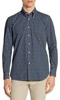 Luciano Barbera Garment Dyed Snowflake Cotton Sportshirt