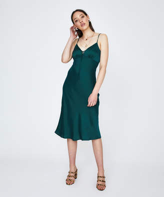 Alice In The Eve Becca Midi Dress Emerald green