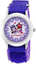 Red Balloon Kids' W000334 Red Balloon Love Owl Kid's Stainless Steel Time Teacher Purple Velcro Strap Watch