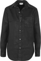 Current/Elliott The Prep School coated stretch-cotton shirt