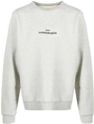 Maison Margiela Upside-Down Embroidered Logo Sweatshirt