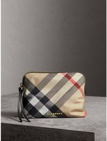 Burberry Large Zip-top Check Pouch