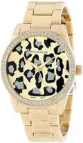 Rocawear RL0110G1-046 40mm Diamonds Gold Steel Bracelet & Case Mineral Women's Watch