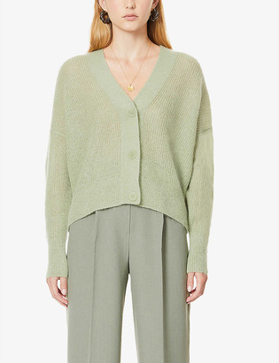 Vince Dropped-shoulder V-neck knitted cardigan