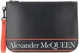 Alexander McQueen Black & Red Signature Wallet Clutch