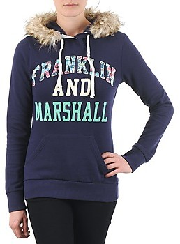 Franklin & Marshall Franklin Marshall COWICHAN women's Sweatshirt in Blue