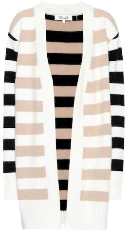 Diane von Furstenberg Striped angora-blend cardigan