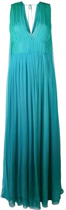 Alberta Ferretti Sleeveless Gathered Dress