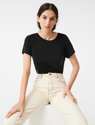 Maje Cupro T-shirt with open back