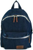 Eastpak front pocket denim backpack