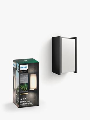 Philips Hue Turaco LED Outdoor Wall Light, Black
