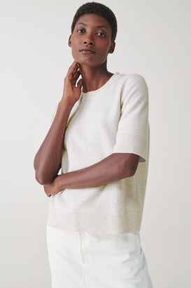 Cos Short-Sleeved Cashmere Top