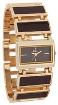 MC M&c Women's Classic &Gold-tone Self-Adjustable Links Watch