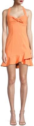 Koral Reyn Ruffle Halterneck Dress