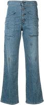 RtA Worker high-waist flared jeans - women - Cotton/Polyester/Spandex/Elastane - 25