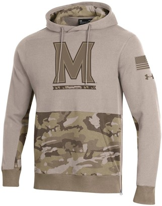 Under Armour Men's Tan Maryland Terrapins Military Appreciation Pursuit Pullover Hoodie