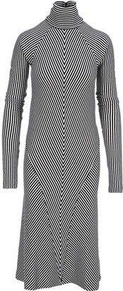 Haider Ackermann Striped Mini Dress