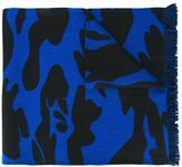 Hydrogen camouflage print scarf