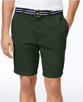 Club Room Men's Estate Flat-Front Shorts with Belt 9and#034; Inseam, Created for Macy's