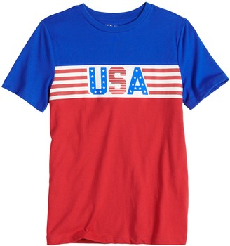Urban Pipeline Boys 8-20 & Husky Chest Stripe Tee