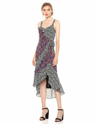 Parker Women's Kathy Sleeveless Wrap Front Midi Dress