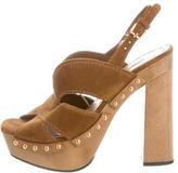 Miu Miu Scamosciato Clog Sandals