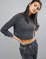 MinkPink Move Washed Cropped Sweat