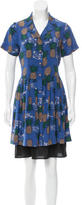 Sea Pineapple Button-Up Dress w/ Tags