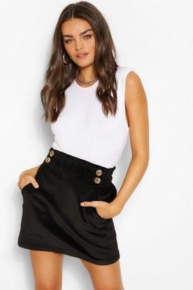 boohoo Cord Pocket Mini Skirt