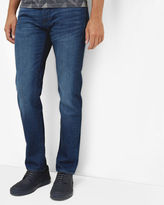 SIMMS Straight fit mid wash jeans