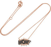 Diane Kordas Wow! 18-karat Rose Gold Diamond Necklace - one size