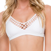 Luli Fama Fishnet Bralette In White (L506451)