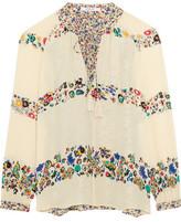 Derek Lam 10 Crosby Floral-Print Silk-Georgette Blouse