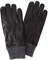 Haggar Men's Leather & Knit Gloves