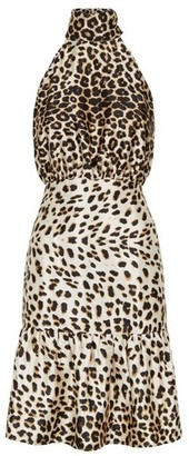 Dorothy Perkins Womens Vesper Multi Colour Cheetah Print Bodycon Dress