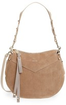 Jimmy Choo Artie Suede Hobo Bag - Beige