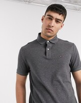 Tommy Hilfiger ivy polo shirt custom fit in gray