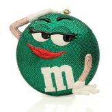 Katherine Baumann excellent (EX Green M&M Crystal Clutch Shoulder Bag